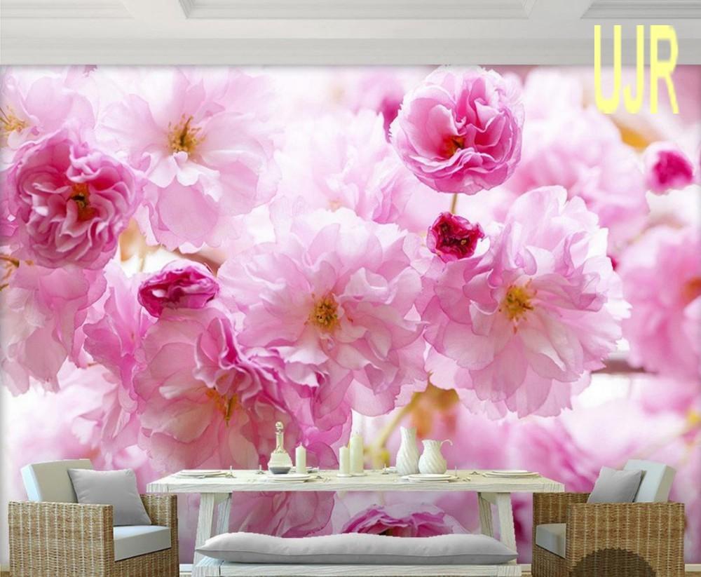 Jual Wallpaper Dinding 3D Model Bunga Sakura Besar Untuk Ruang