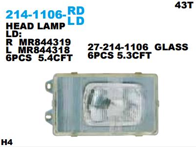 HEAD LAMP FUSO TRK FIGHTER PS190 Berkualitas