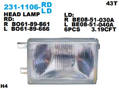 HEAD LAMP FORD LASER 1983 Diskon