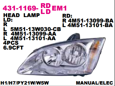 HEAD LAMP FORD FOCUS 2005 Diskon