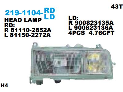 HEAD LAMP H. TRUCK FC166 PROVIA 1990 Murah