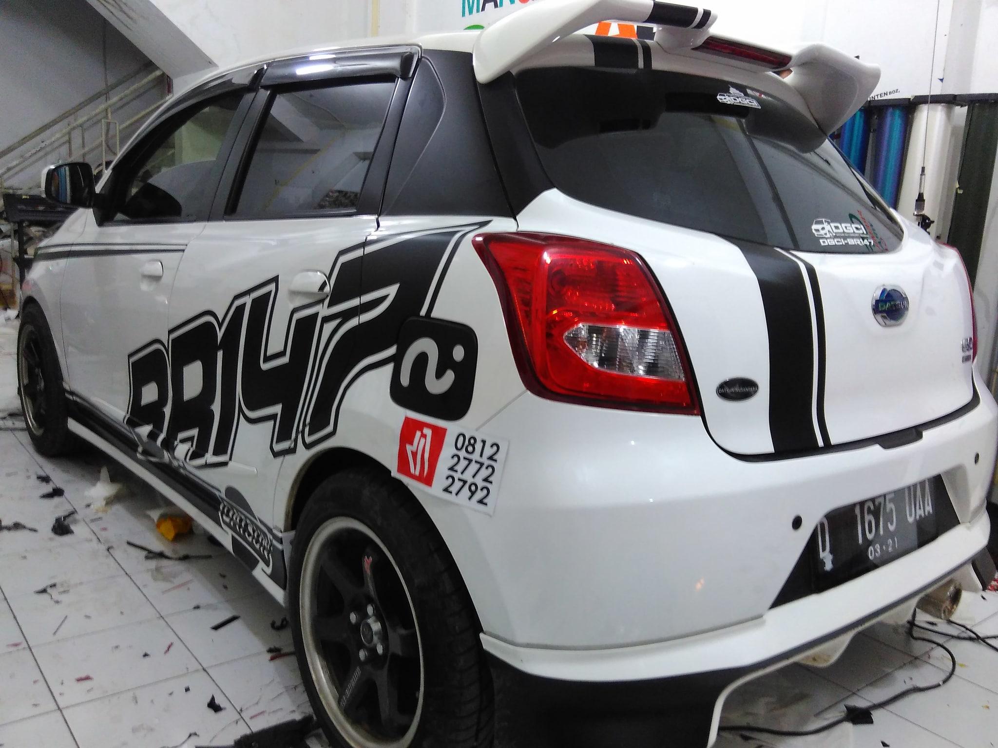 Jual Mangele Bandung Cutting Sticker Datsun Go Sticker Mobil