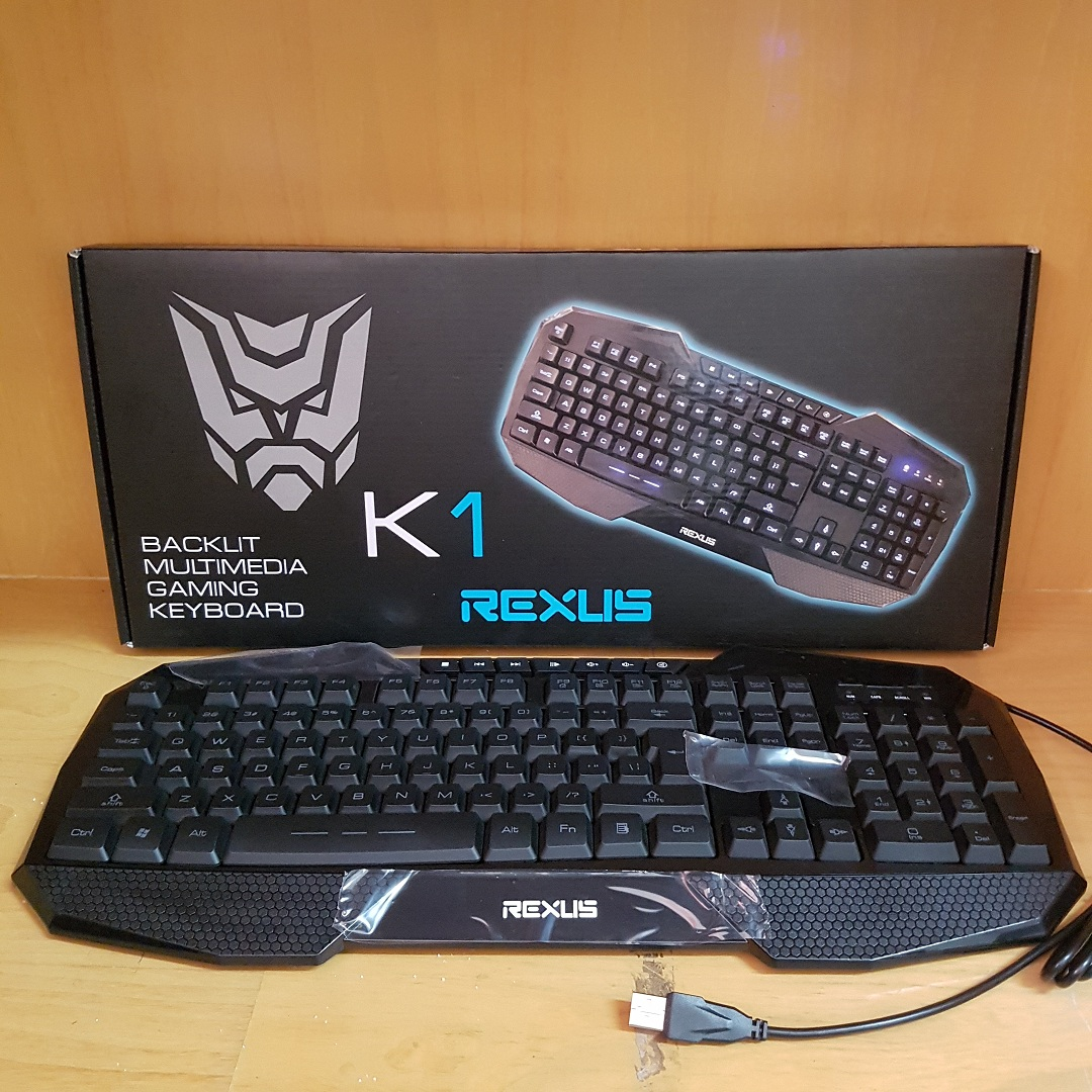 Rexus K1 - Backlit Multimedia Gaming Keyboard