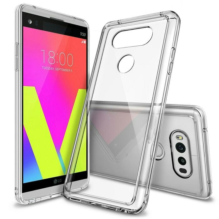 Ringke LG V20 Fusion Soft Hard Case Casing - Crystal Clear Transparan
