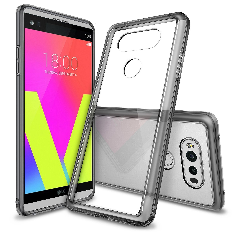 Ringke LG V20 Fusion Soft Hard Case - Smoke Black Transparan - Casing