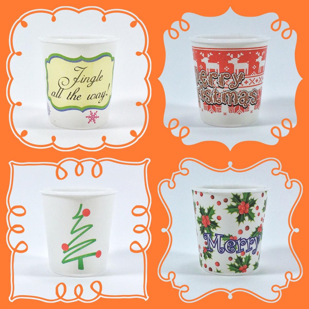Gelas Sloki Plastik Edisi Natal / Christmas Shot Glass
