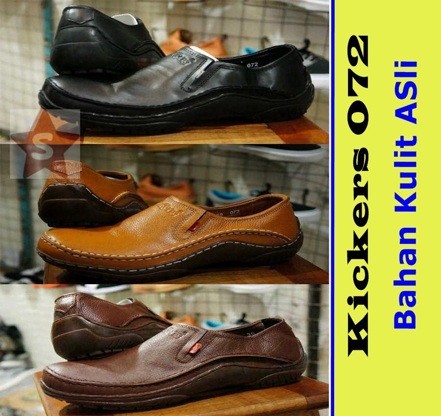 Sepatu Kerja Pantofel Casual Kulit Kickers / Pria2