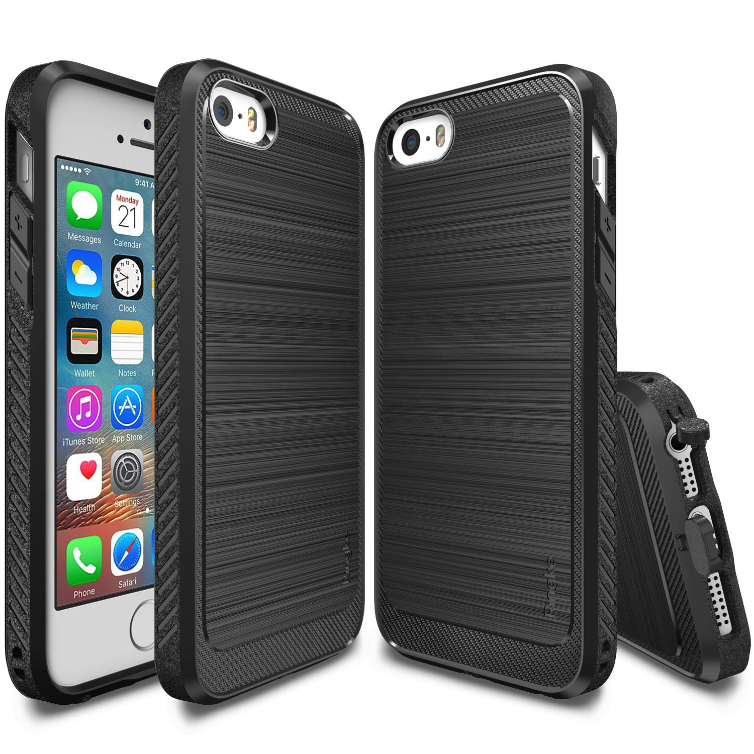 Ringke Onyx Soft Case for iPhone 5 / 5s / SE - Black - Casing,Cover
