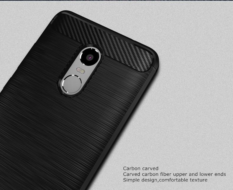 Xiaomi Redmi 4 Prime Thin Softgel Case w Carbon Brush Textur