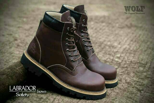 sepatu boot wolf labrador safety kulit original