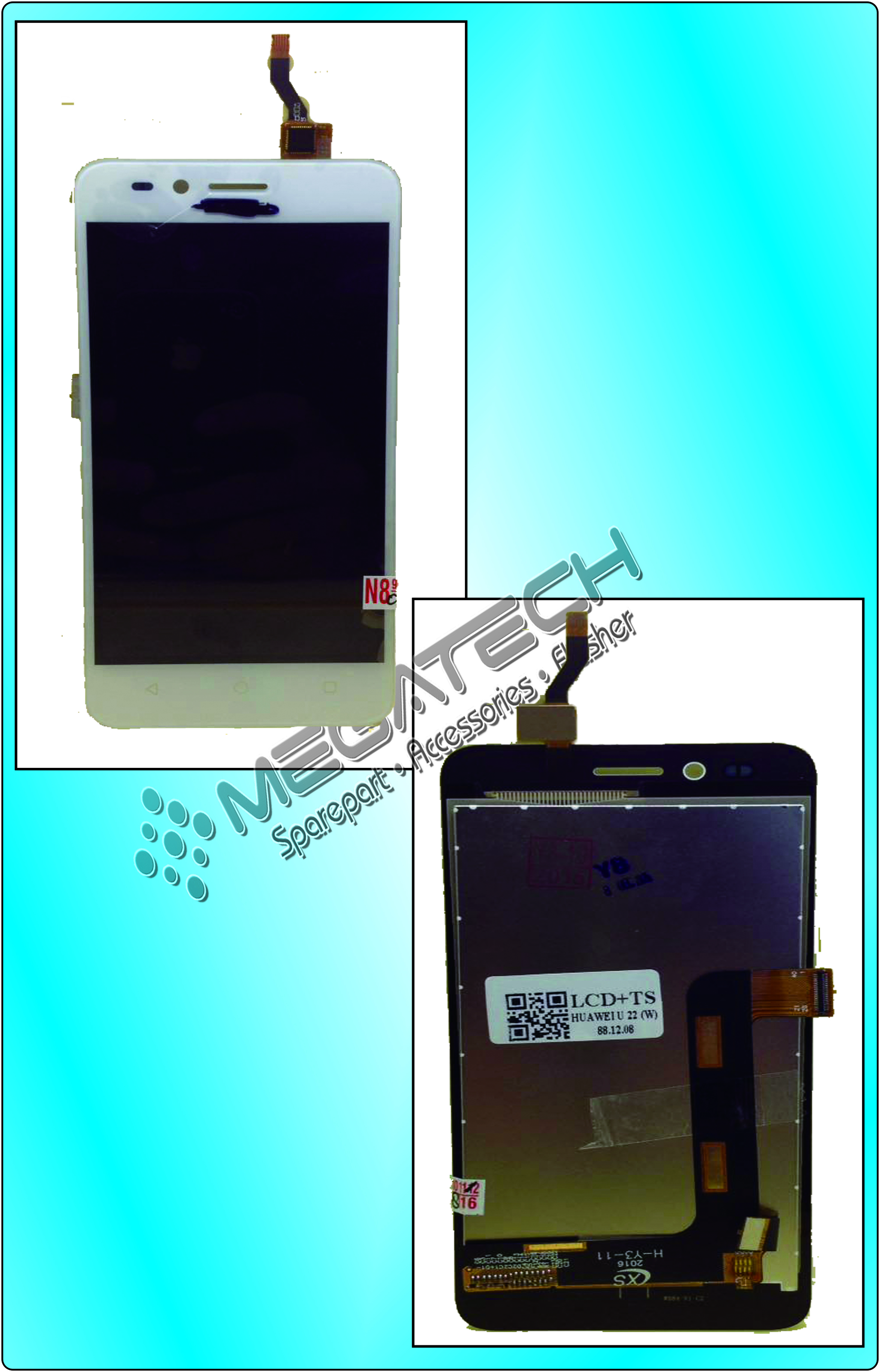 Lcd + Touchscreen Huawei U22 (White)