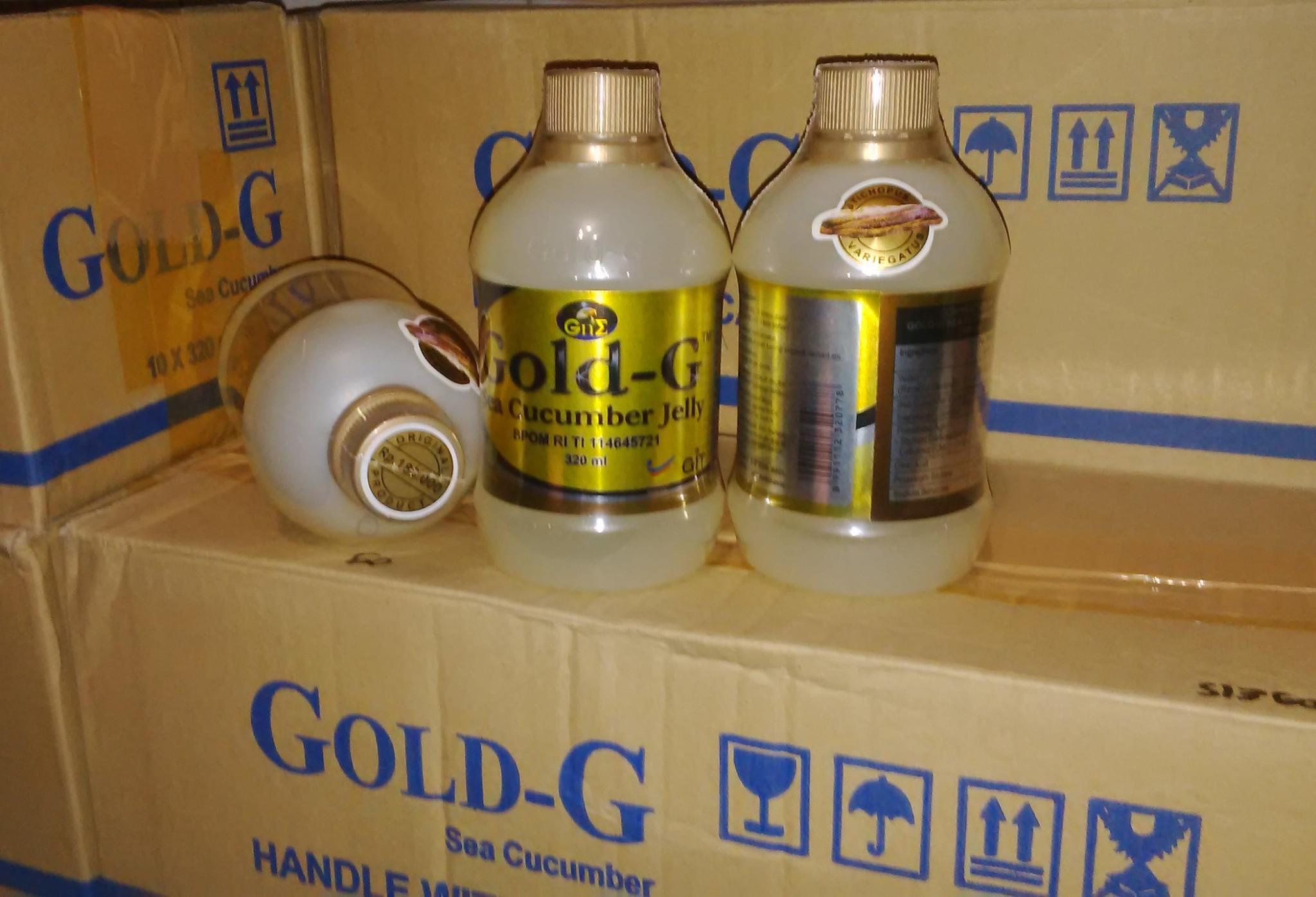 Jual Jelly Gamat Gold G Sea Cucumber Asli Original Obat Lambung 320 Ml Diabetes Al Hadid Herbal Tokopedia