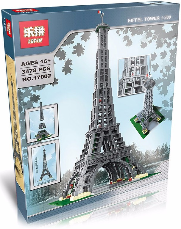 jual eiffel tower 1 300 scale lepin 17002 sculptures lego compatible bricks station. Black Bedroom Furniture Sets. Home Design Ideas