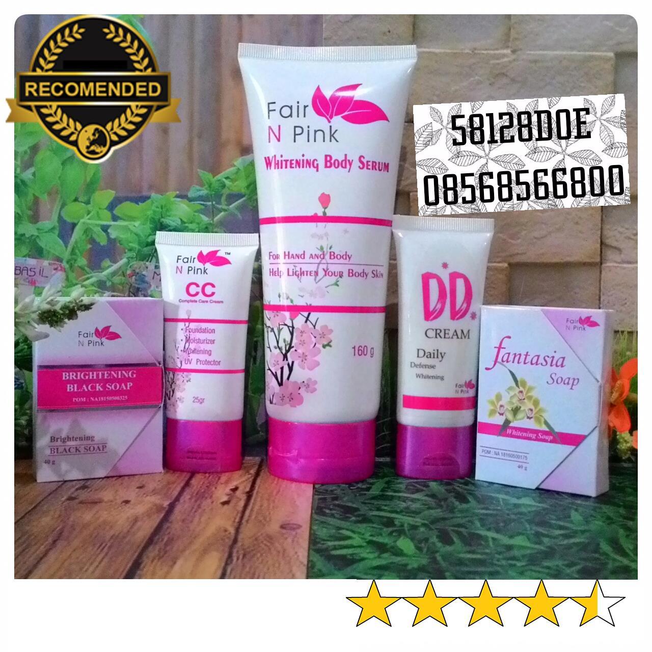Jual Paket Perawatan Wajah Lengkap Fair N Pink Plus Dd Cream Serum Badan Body 160ml Khanza Pusat Kecantikan Tokopedia