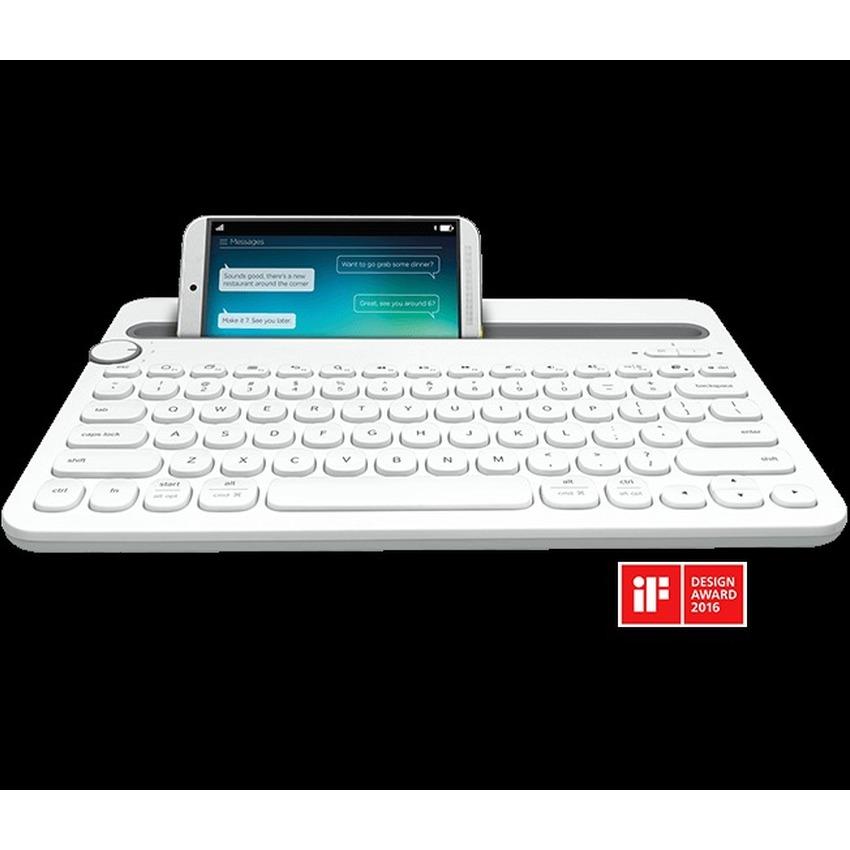 BEST QUALITY Logitech K480 Multi Device Bluetooth Keyboard - Putih