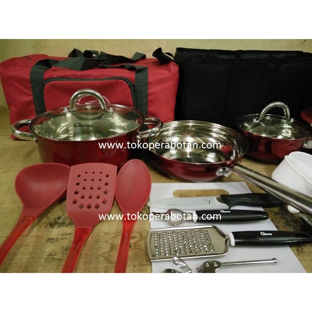 Jual Panci Set Stainless Travel Oxone Ox 993 Deluxe4 Dism1 Cookware Ox993 Tokopedia