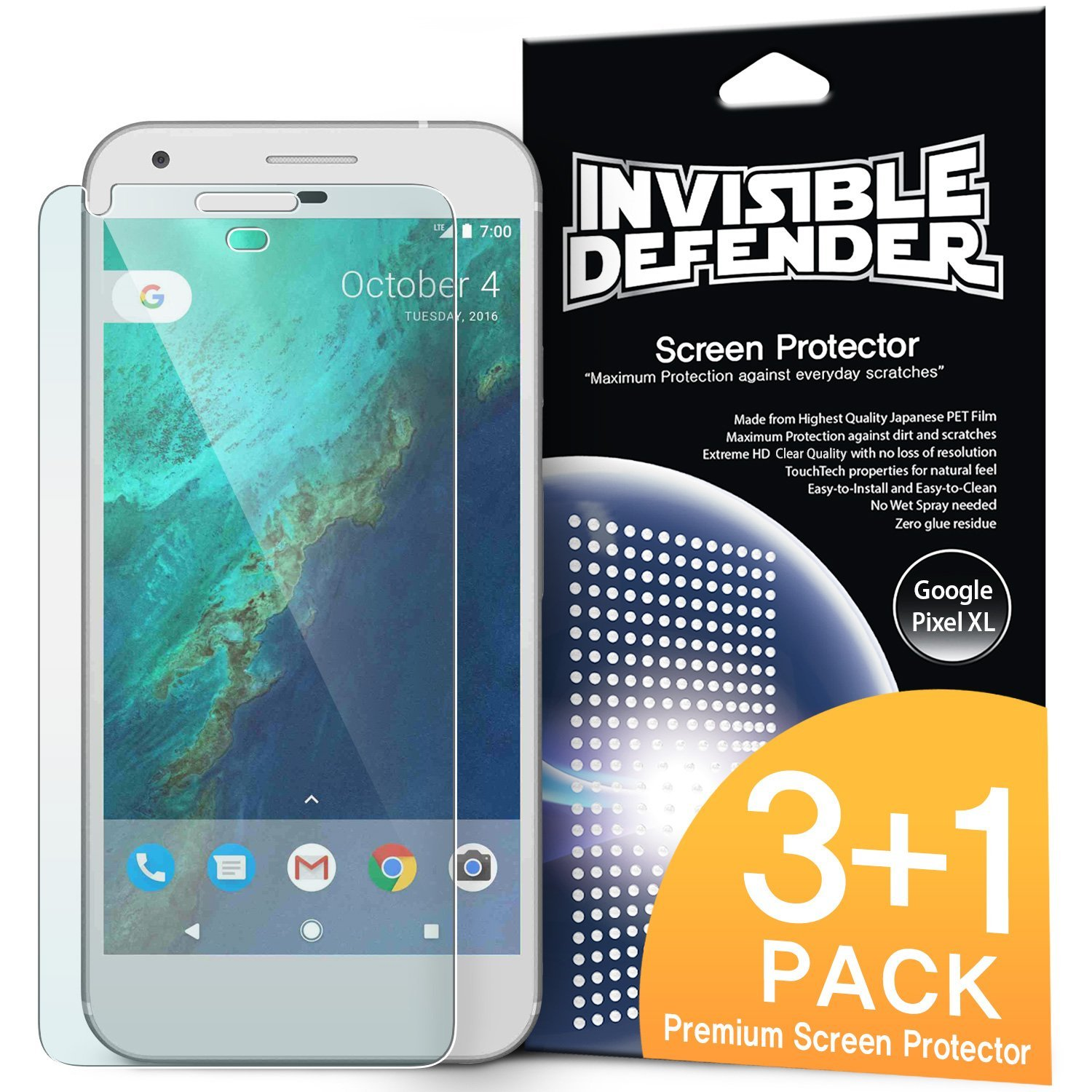 Ringke Screen Protector Invisible Defender Clear Google Pixel XL