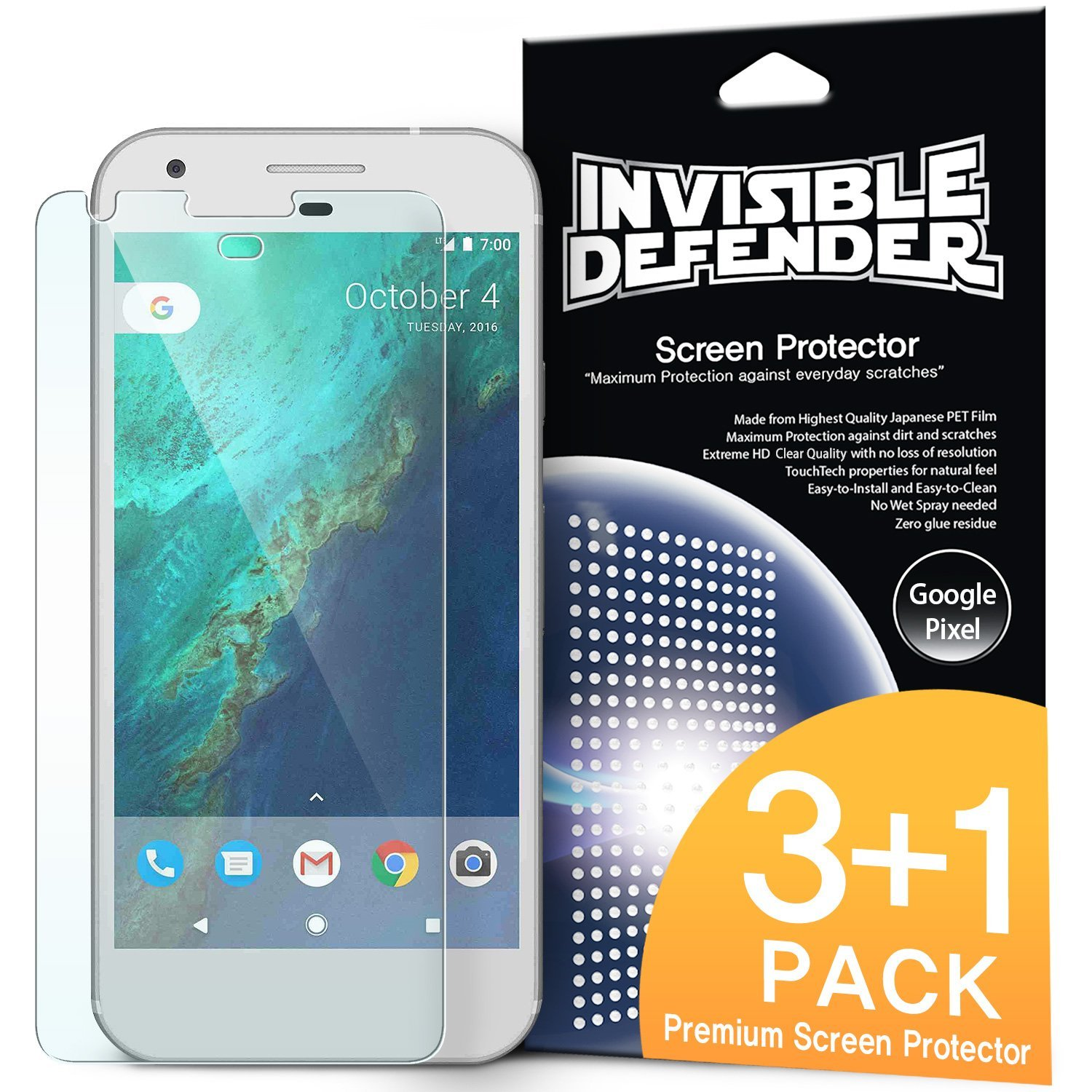 Ringke Screen Protector Invisible Defender Clear Google Pixel