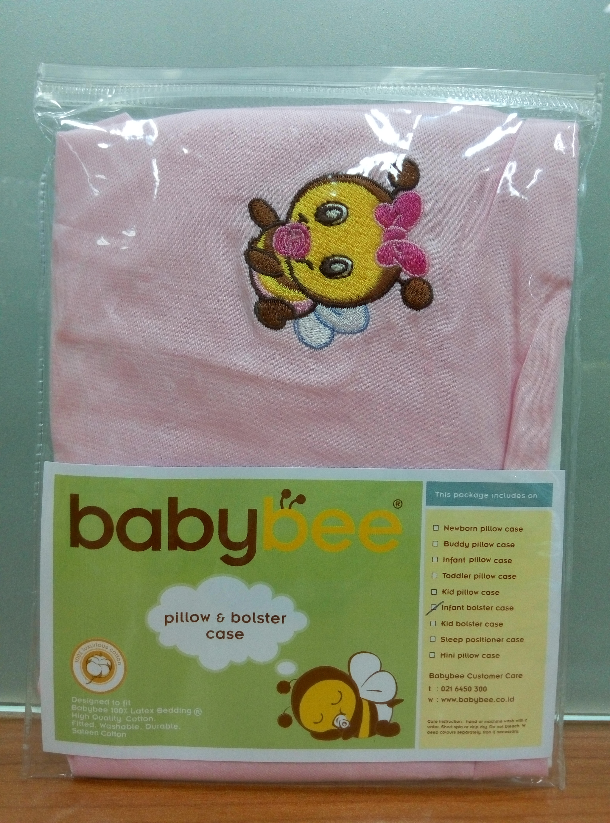 Jual Sarung Bantal Guling Baby Bee Infant Bolster Case Pink Babybee Mini Pillow Cimplis Tokopedia