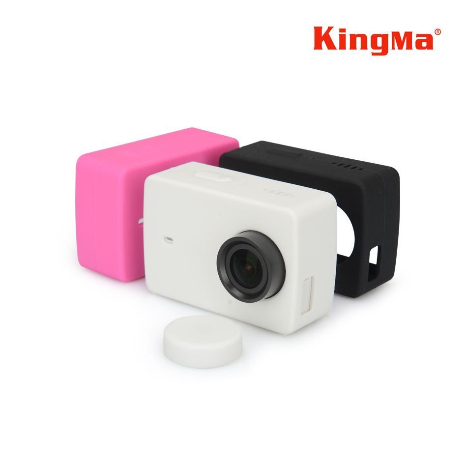 Silicone / Silicon Rubber Case With Lens Cap For Xiaomi Yi 2 4k3