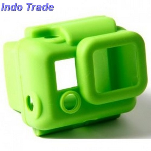 Soft Rubber Silicone Case For Gopro HD Hero 3 - Green