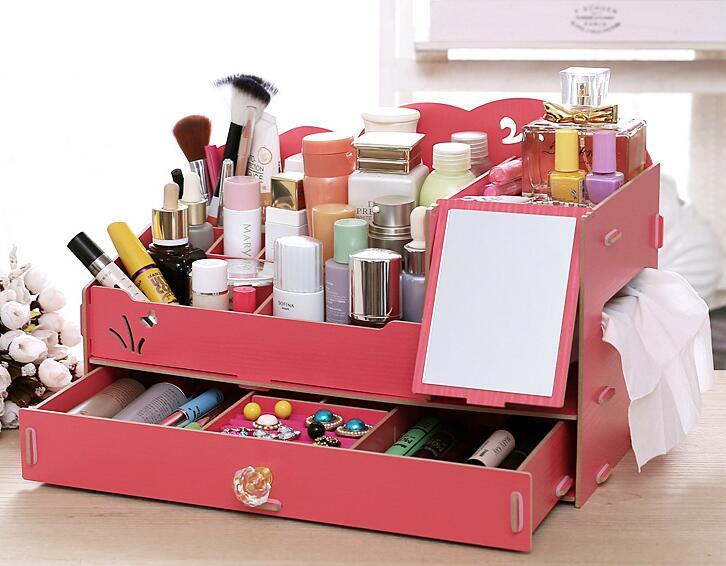 050 Rak Kosmetik Desktop Storage Cermin JUMBO Mirror Storage Jumbo R
