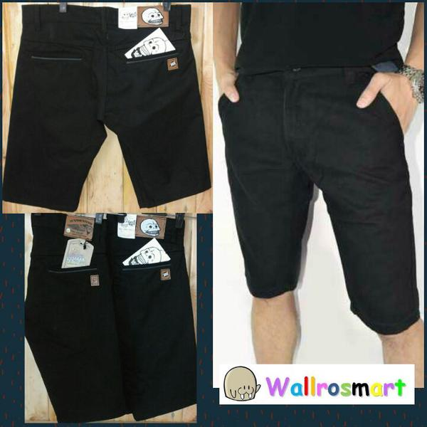 CELANA CHINO PENDEK HITAM / CHINO SHORT BLACK / ALL BRAND CINO