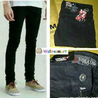 Celana Jeans Volcom Black / Denim Volcom Black / Volcom Hitam Panjang
