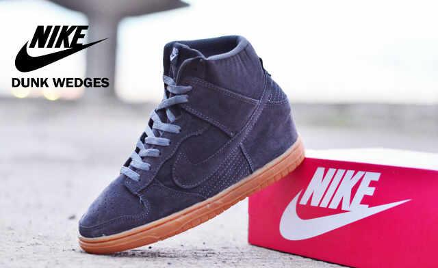 Sepatu Nike Dunk Wedges Abu