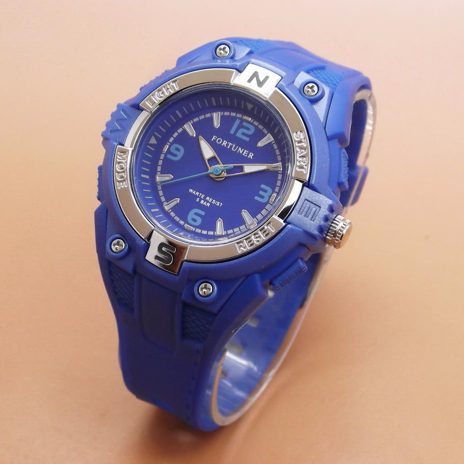Jam Tangan Pria / Wanita Fortuner FR9064 Rubber Dark Blue