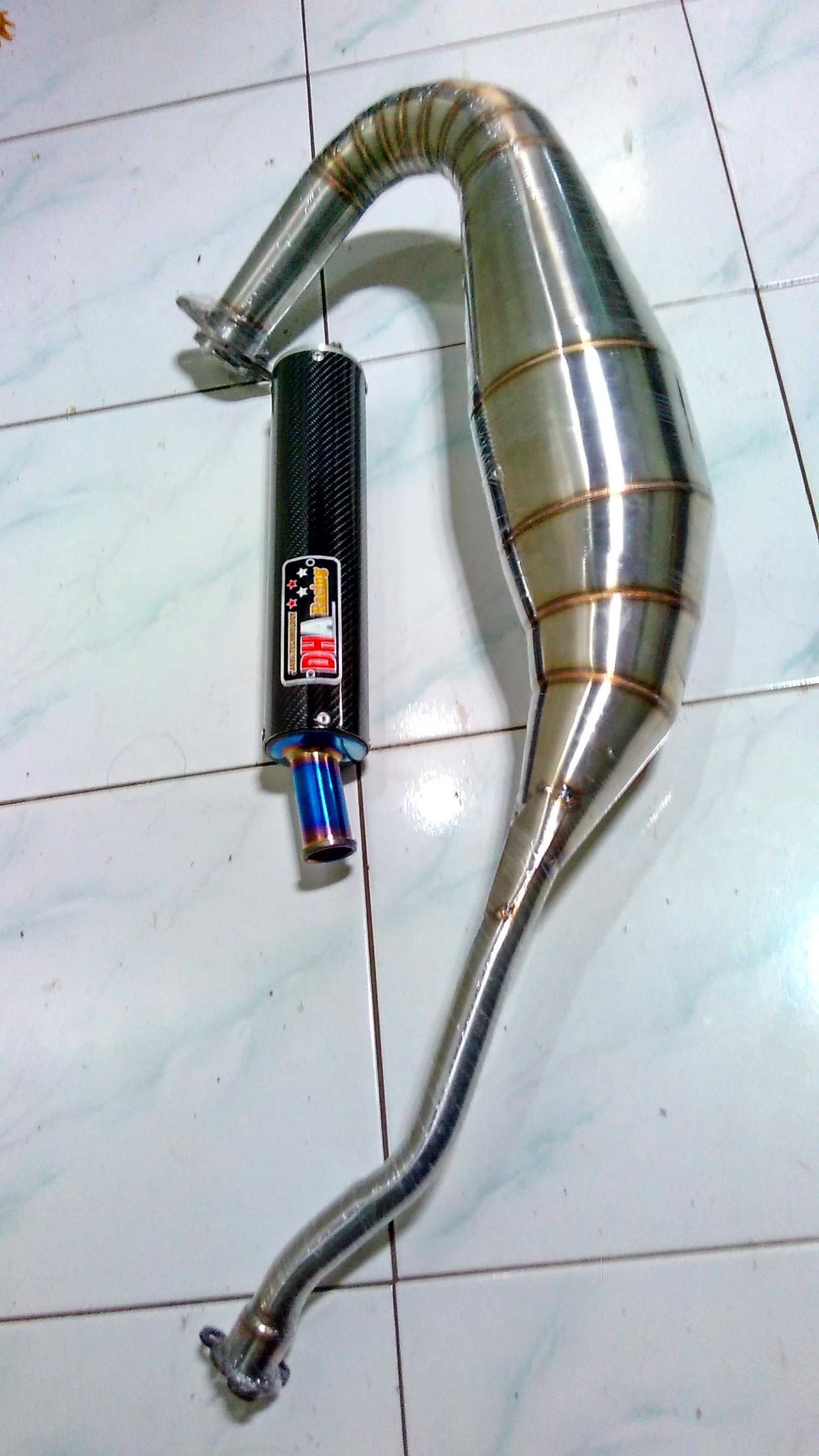 Knalpot Ninja R / RR Cobra DHA RACING Full Stanles