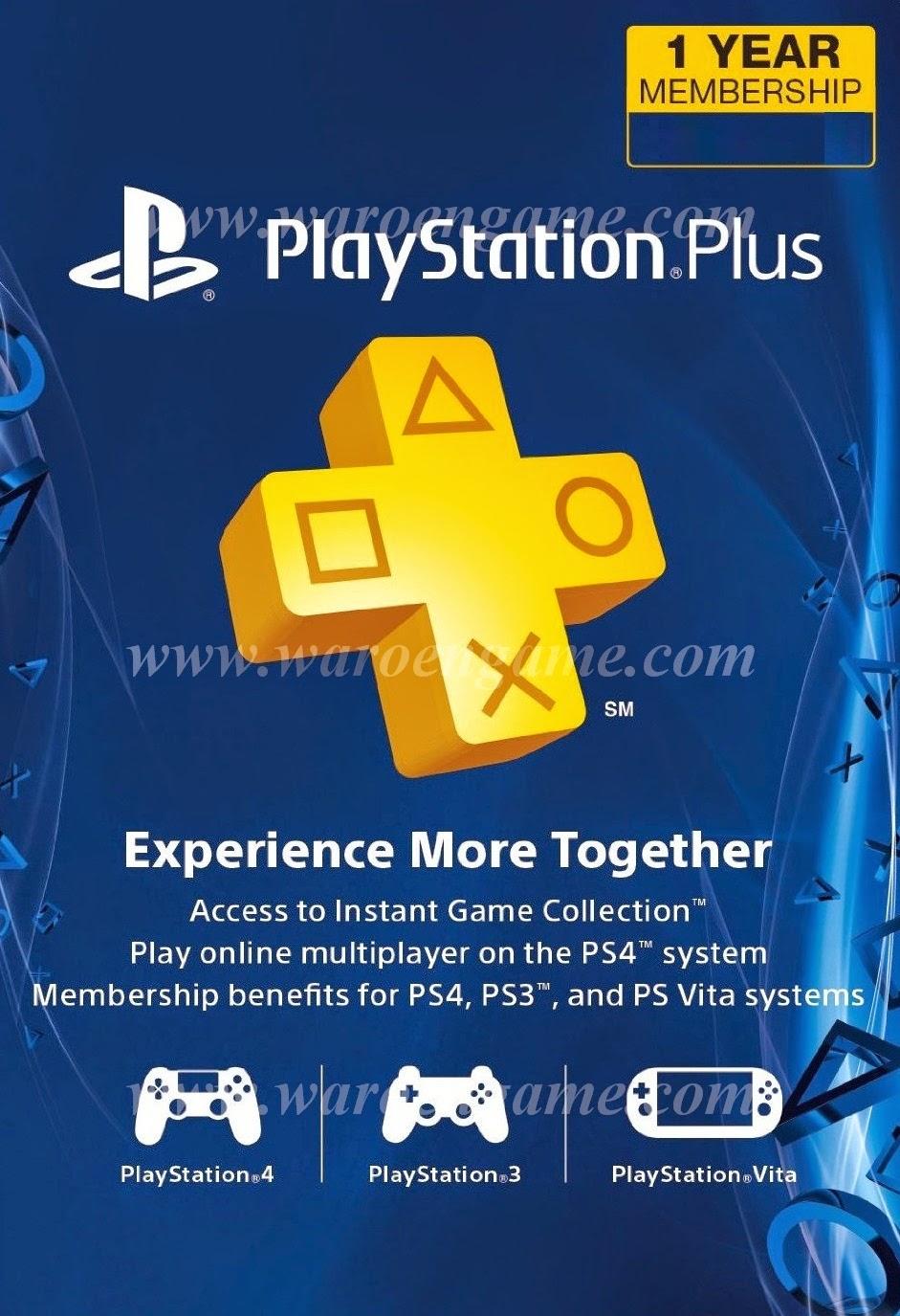 Sony PlayStation Plus 1 Year (12 Month Asia) Membership Berkualitas