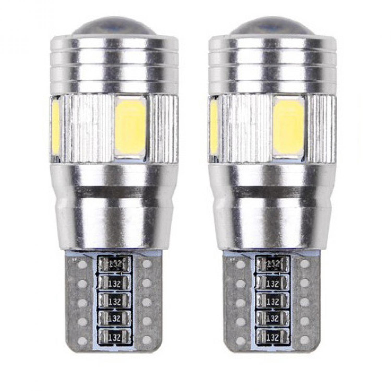Lampu Mobil LED T10 / W5W / 168 SMD 5630 5W 2PCS