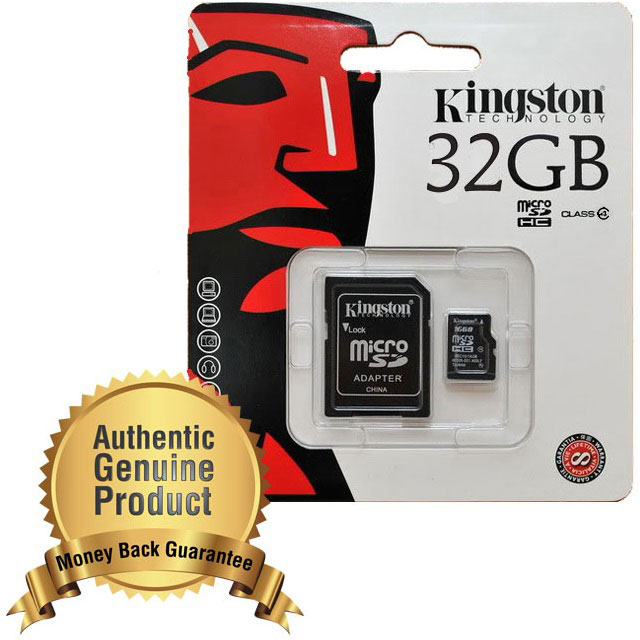 Kingston MicroSDHC High Capacity Card UHS-I Class S 10 (10MB / S) 32GB