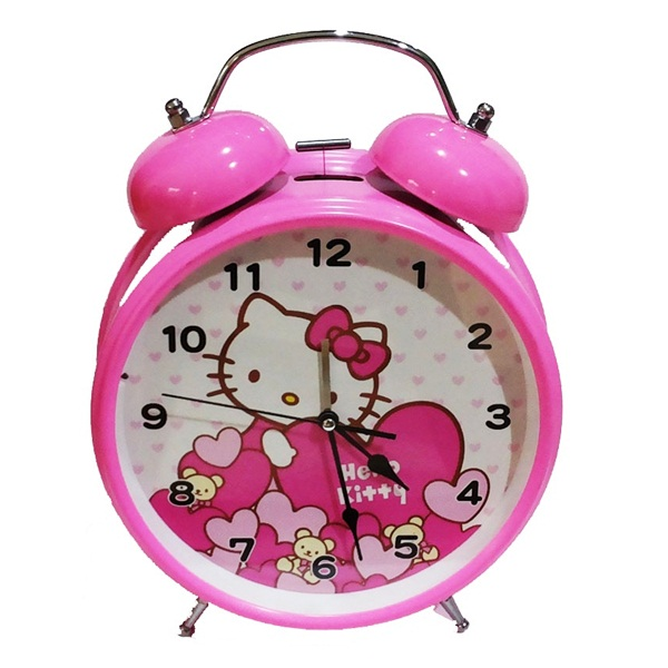 JAM DINDING / MEJA ANTIK UNIK BENTUK HELLO KITTY IMPORT