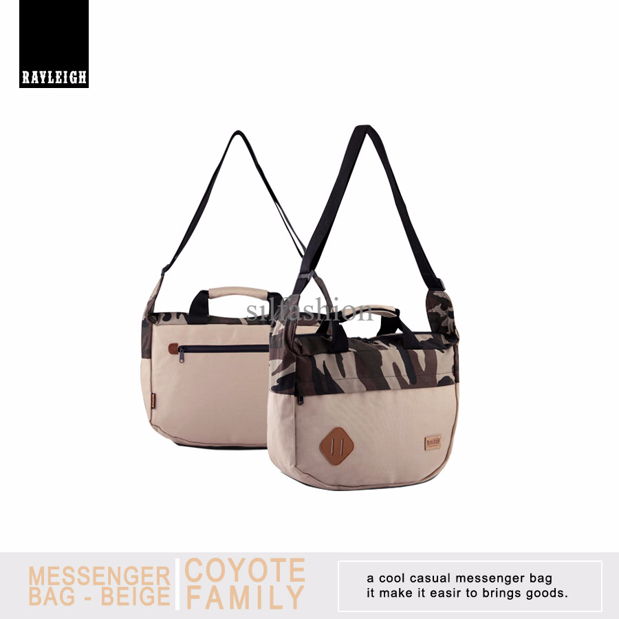 Rayleigh COYOTE MESSANGER BEIGE / Tas Selempang Casual Laptop 11""
