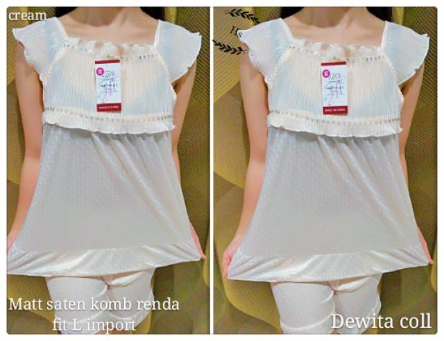 Baju Tidur Dewita Cream