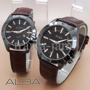 Special Alba Couple Date Leather Brown Rose PALING MURAH