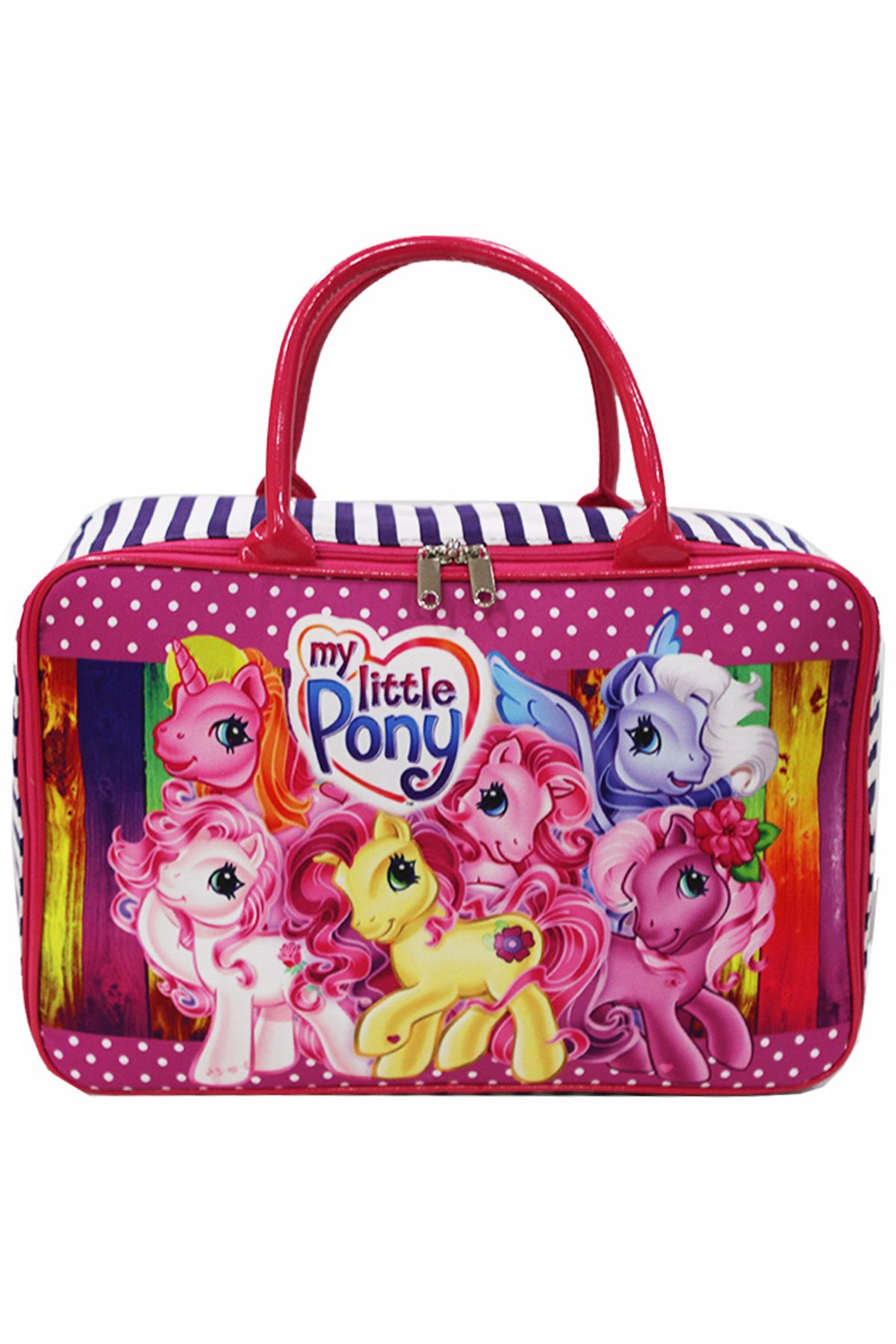 Travel Bag Anak Karakter Little Pony Bahan Kanvas - Pink