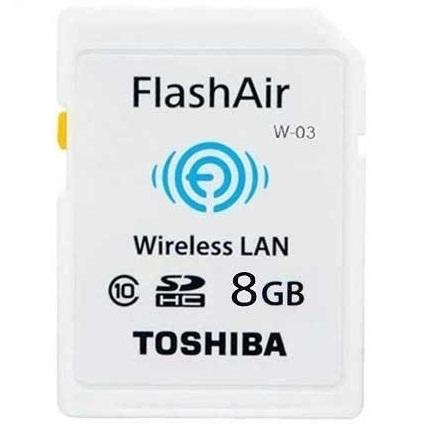 Toshiba Flash Air Wireless SD Card Class 10 8GB - SD-R008GR7AL03ACH -