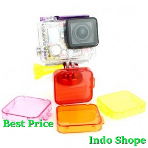 TMC Under Sea Filter Cover For GoPro HD Hero 3 + - HR121 - Red