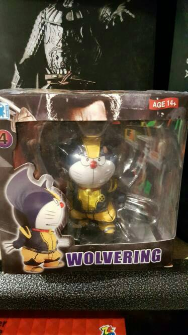 Mainan Action Figure Doraemon Cosplay As Wolverine