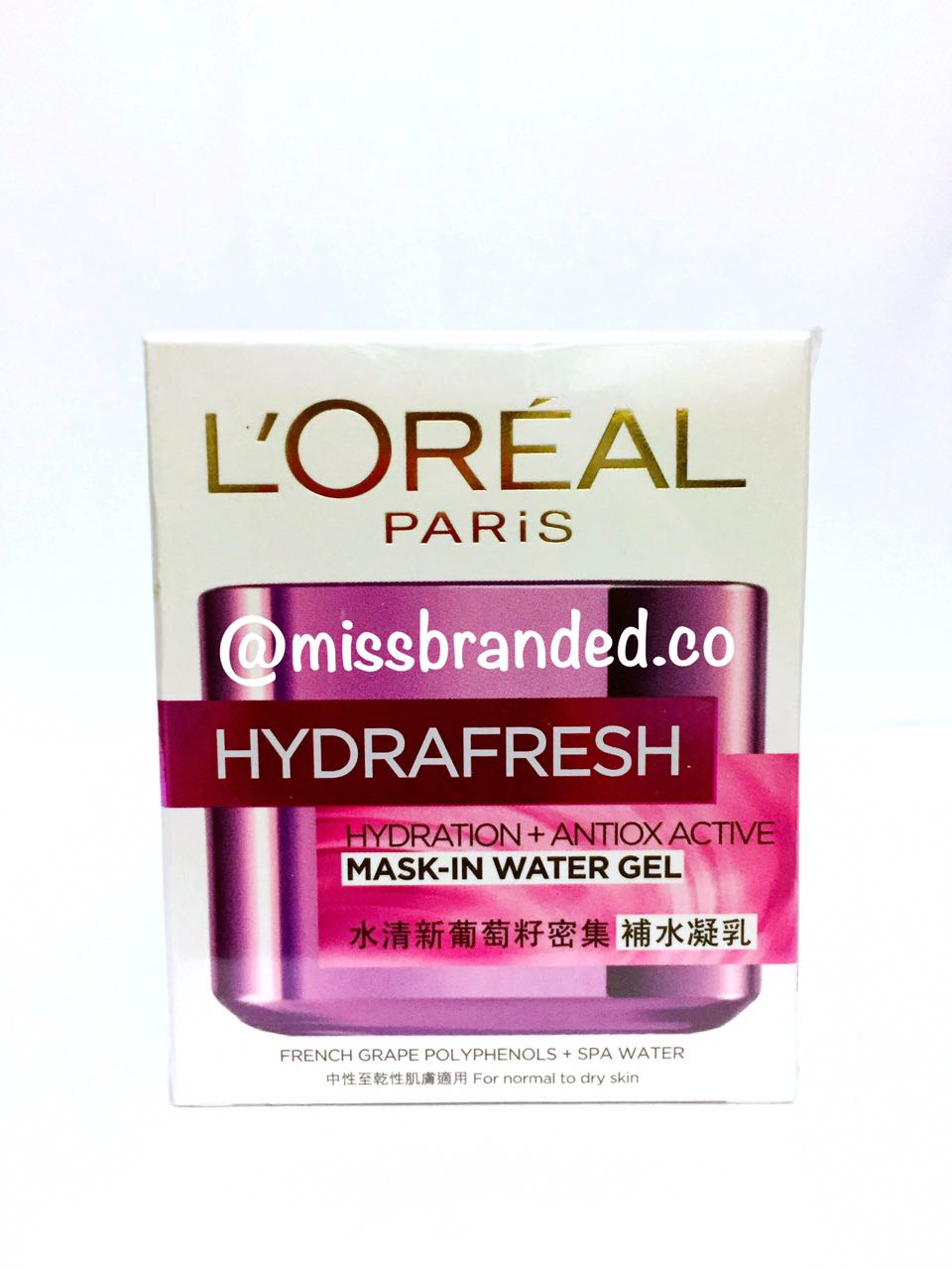Loreal Paris Hydrafresh Hydration Antiox Active Mask In Water Gel 50ml