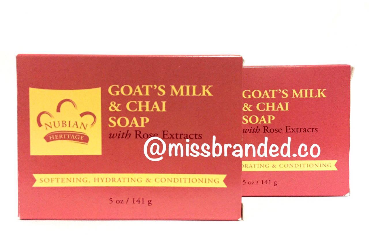 Nubian Heritage Goat's Milk & Chai Soap 141g