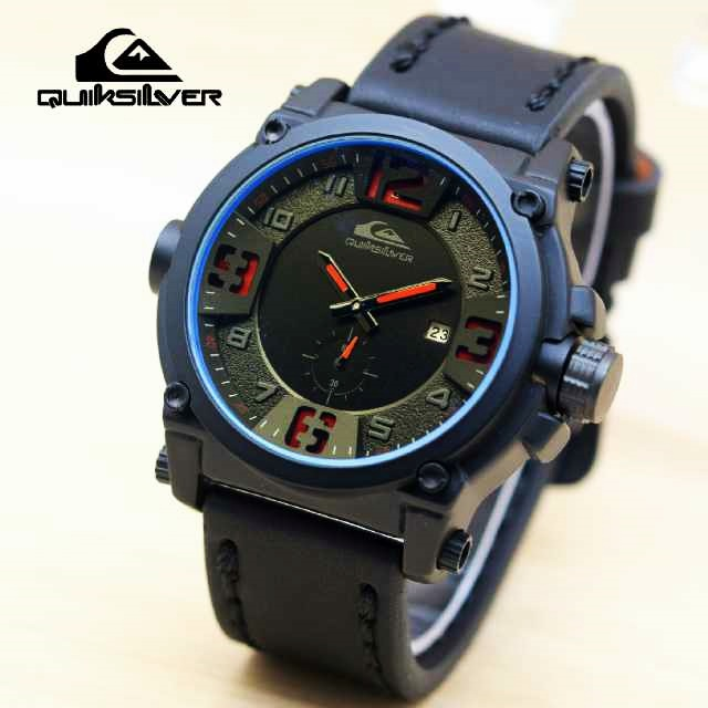 Jam Tangan Pria Quiksilver 089 Semi Premium + Box Kancing