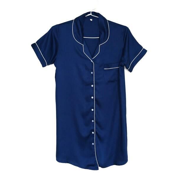 Women Satin Sleepshirt 2 Colors / Daster