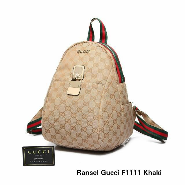 Tas Wanita Tas Ransel Gucci Seri F1111 Tas Branded Replika