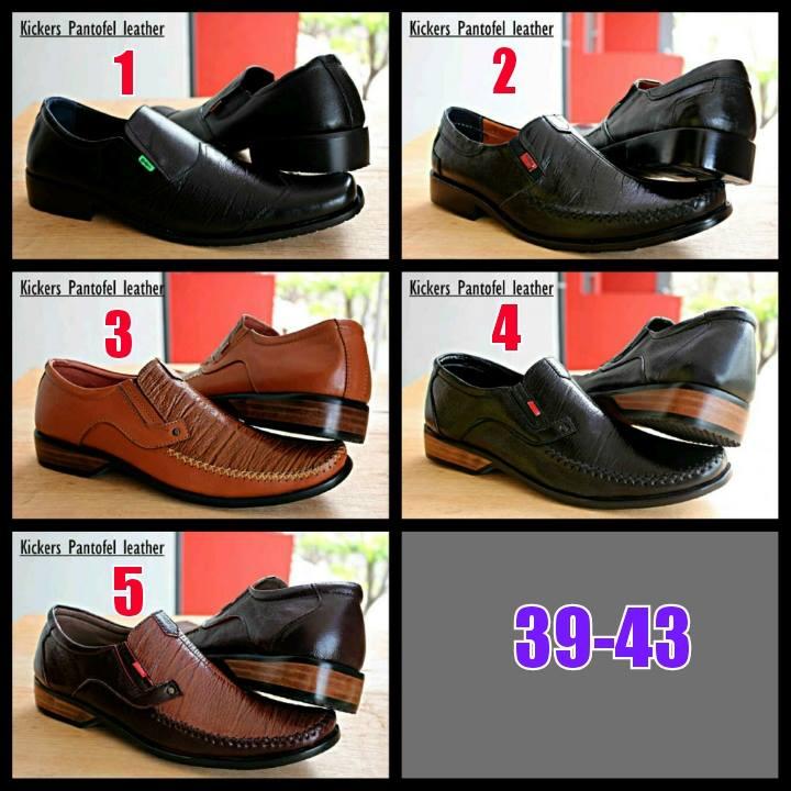 Murah SS-973 Kickers Pantofel Kulit Sepatu Formal Pria4