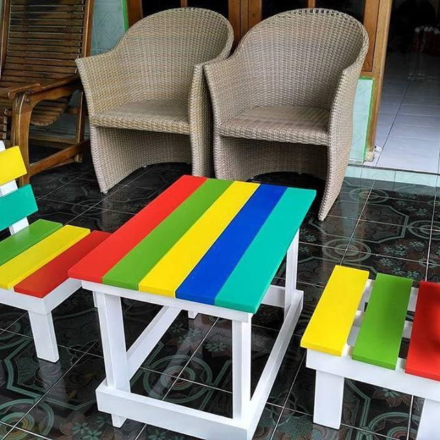 Meja Kursi Anak Rainbow Tk