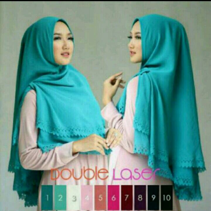 SYIRIA CUTTING LASER 2 LAYER / KHIMAR LASER DOUBLE LAYER